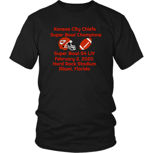 Kansas City Chiefs Super Bowl Champions Unisex T-Shirt With Discount