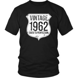 Vintage 1962 Aged To Perfection Unisex T-Shirt birthday gift year gift