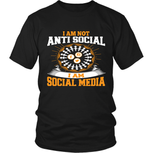 I Am Not Anti Social I  Am Social Media  T Shirt