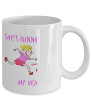 She's Running With My Heart 11 Oz White Coffee Mug