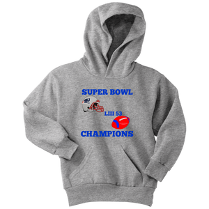 Patriots Super Bowl LIII 53 Champions 2019 Youth Unisex Hoodie gift birthday