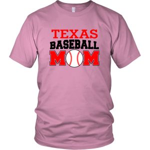 Texas Baseball Mom Fan Unisex T-Shirt