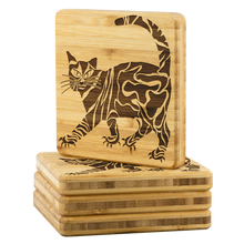 Cool Cat On Coaster Set 4 PC gift