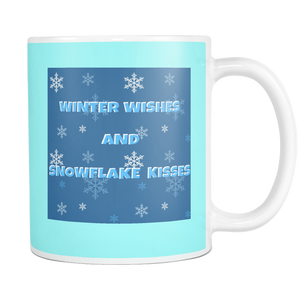 Winter Wishes And Snowflake Kisses 11 Oz Mug
