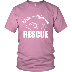 Make A Difference Rescue A Dog Today T-Shirt