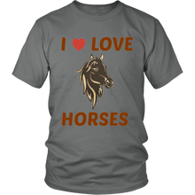 I Love Heart Horses Unisex T-Shirt