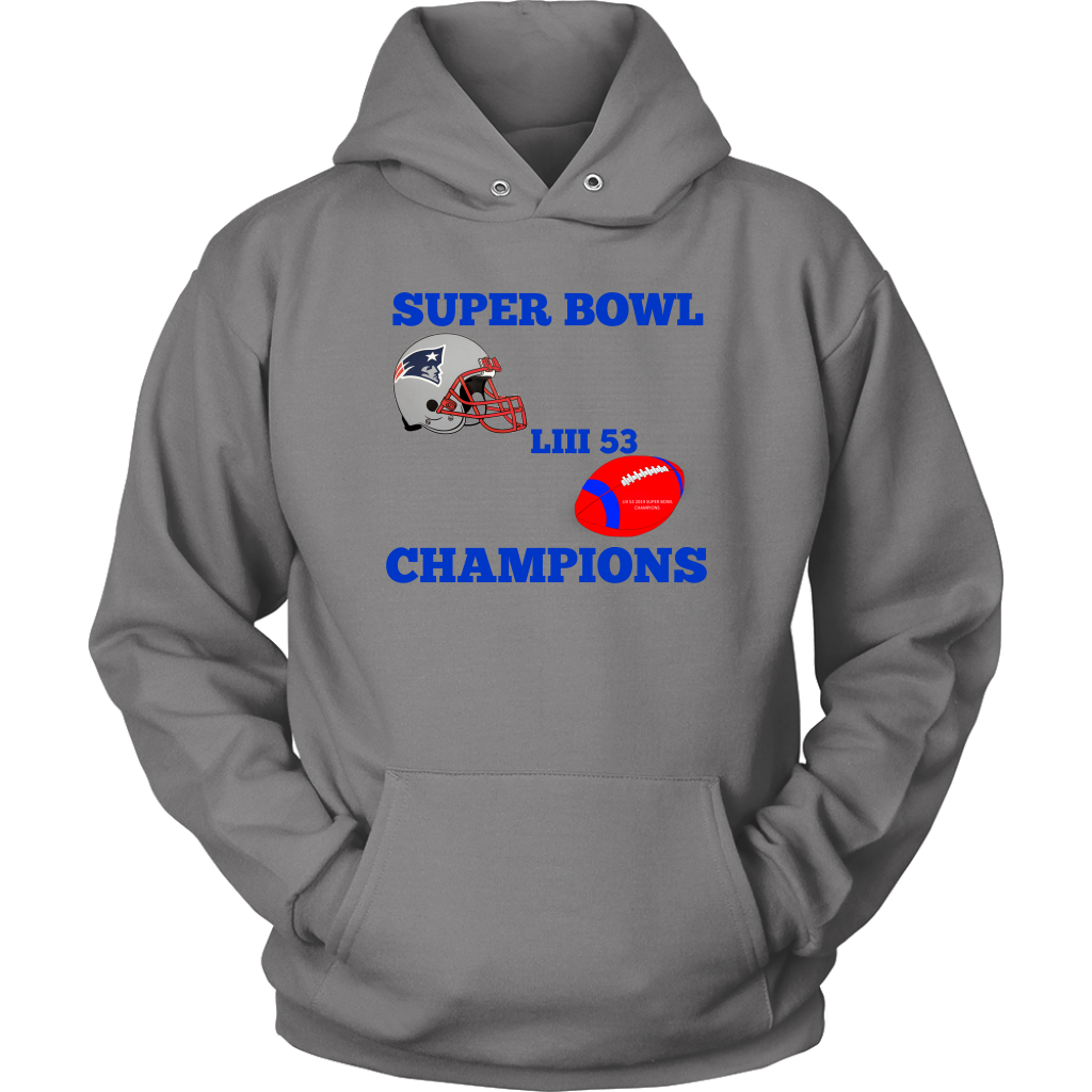 Patriots Super Bowl LIII 53 Champions 2019 Unisex Hoodie gift