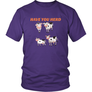 Have You Herd Fun Pun Cow Herd Trendy Humor Gift  T-Shirt