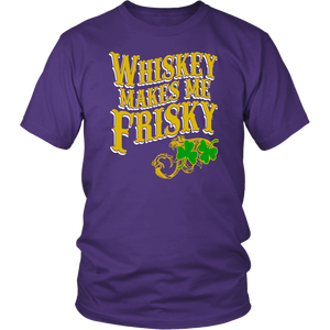 Whiskey Makes Me Frisky Clover Unisex T-Shirt