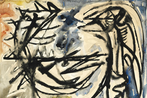 Asger Jorn - two bird figures