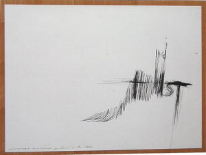 Gerhard Rühm – Ballpoint pen drawing on cardboard