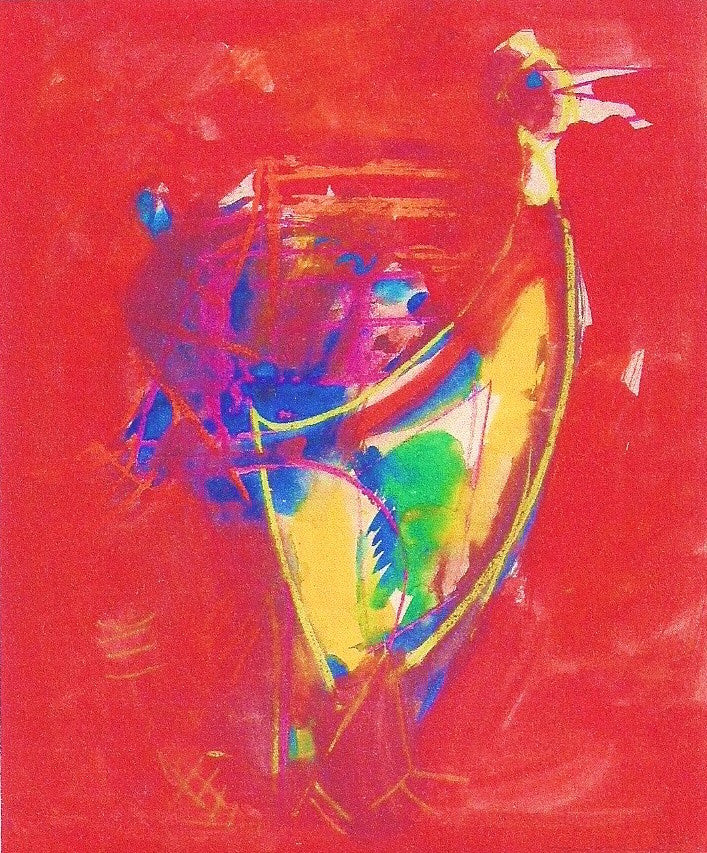Hans Hofmann – Mixed media on cardboard