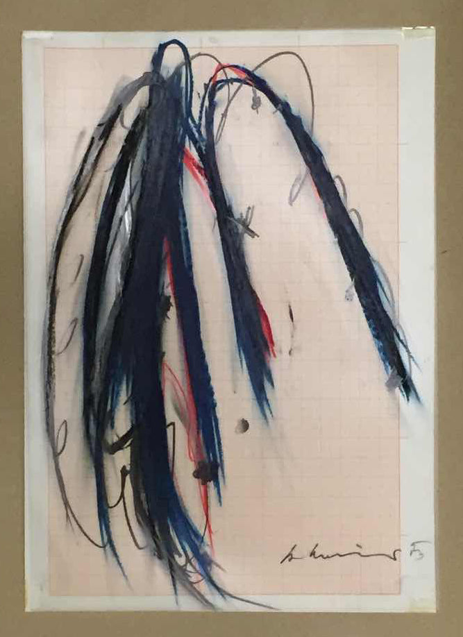 Arnulf Rainer – Colored chalk on paper