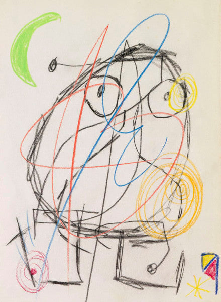Joan Miró – chalk drawing
