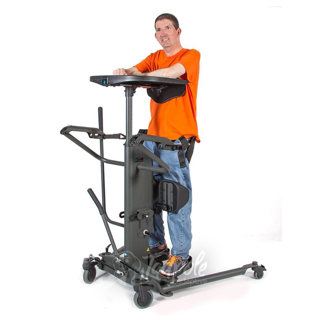 EasyStand StrapStand, Man standing upright using tray