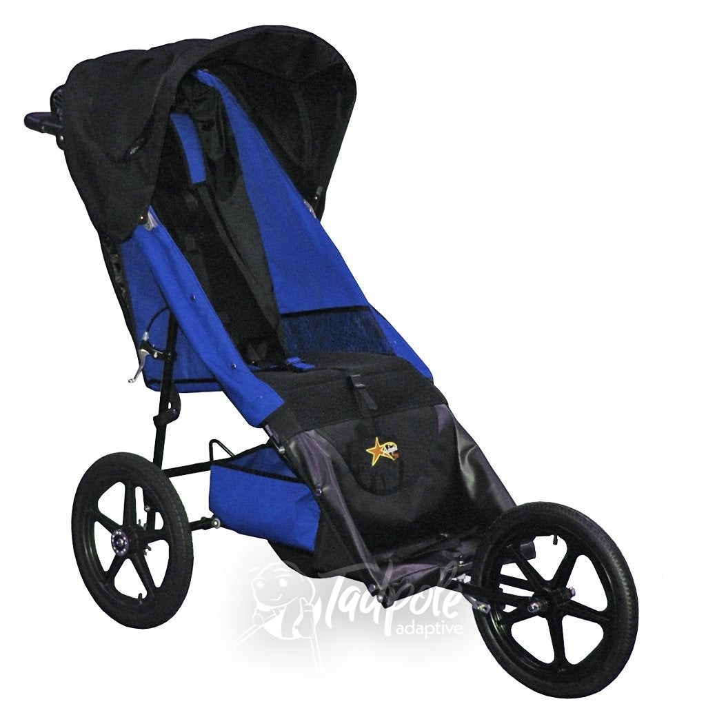 Axiom Improv Indoor/Outdoor Special Needs Mobility Jogger in Blue.