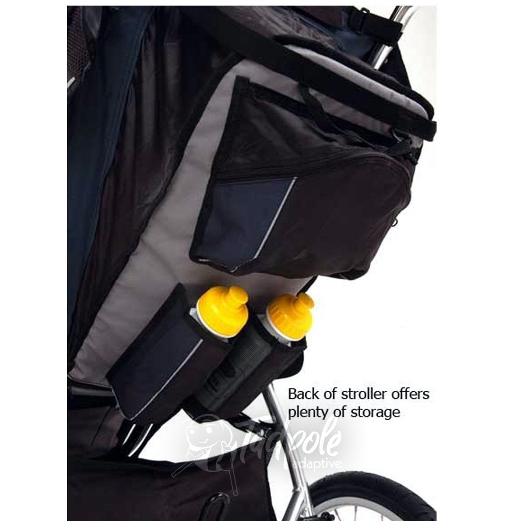 Axiom Improv Indoor/Outdoor Mobility Jogger has plenty of storage, including water bottle holders.