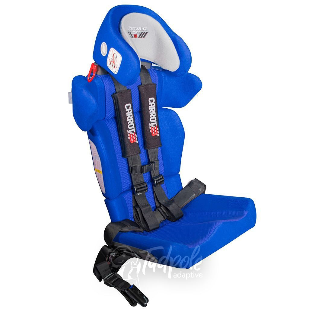 Convaid Carrot 3 Booster Seat, in blue, standard accessories.