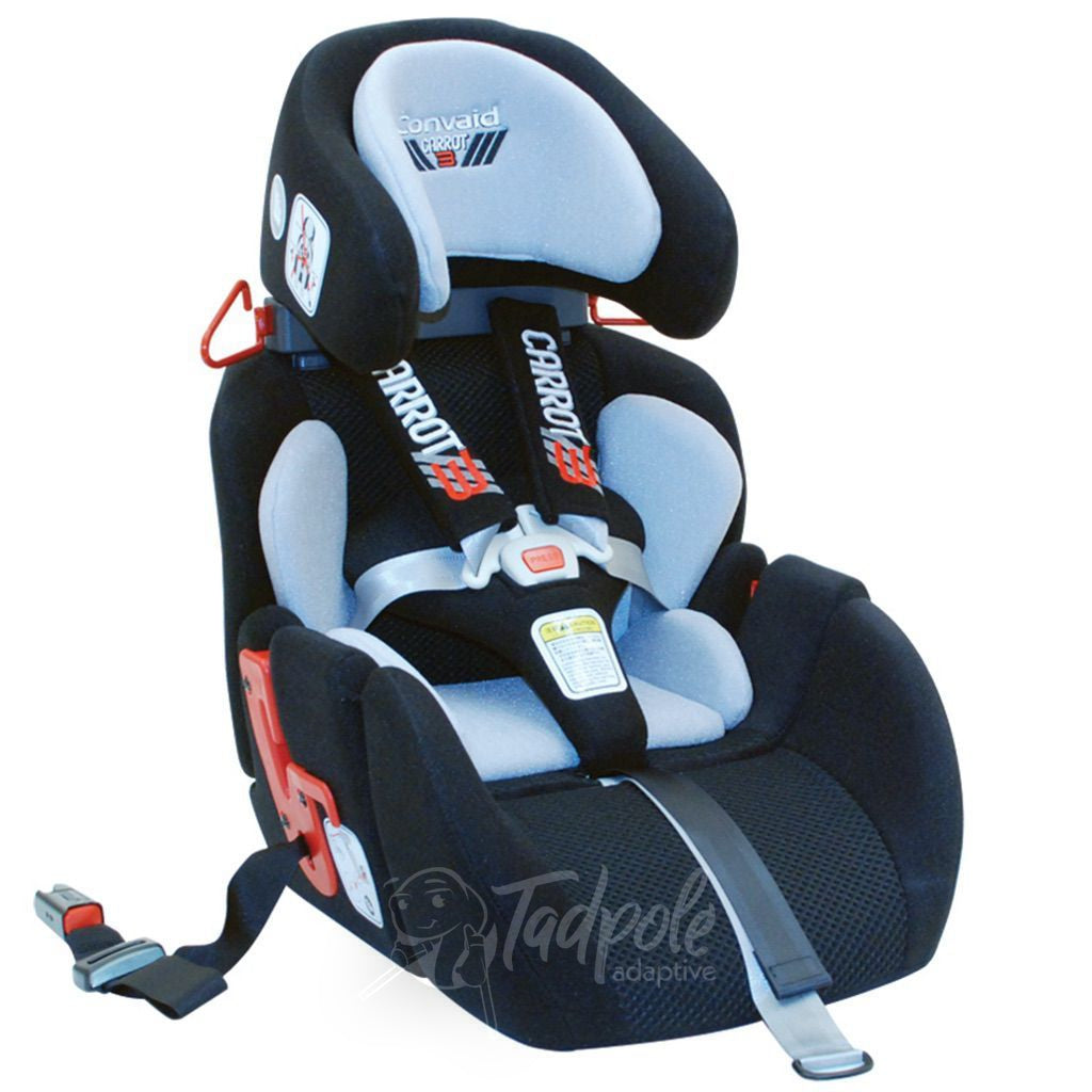 Convaid Carrot 3 Special Needs Carseat, in Black.