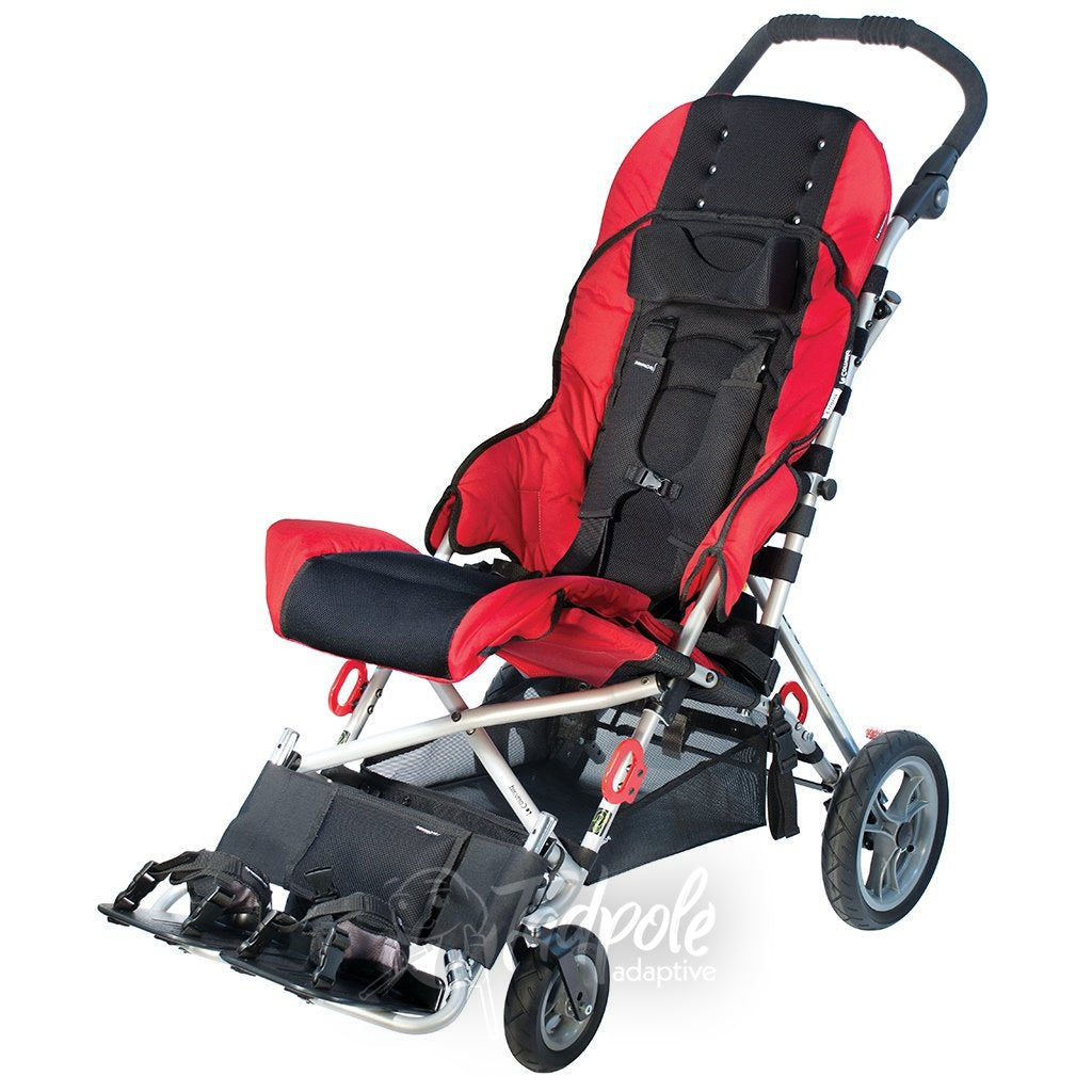 Convaid Cruiser Special Needs Stroller, Transit Option, in Cherry Red.
