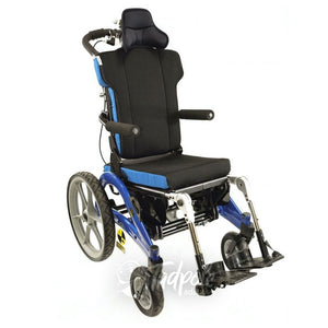 Convaid Flyer Tilt-in-Space Wheelchair in Blue.