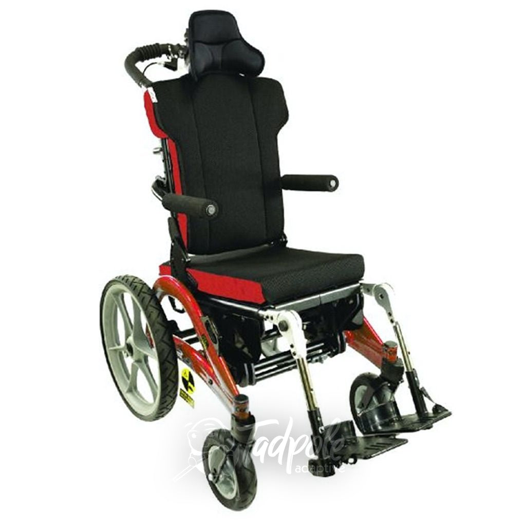 Convaid Flyer Tilt-in-Space Wheelchair in Red.