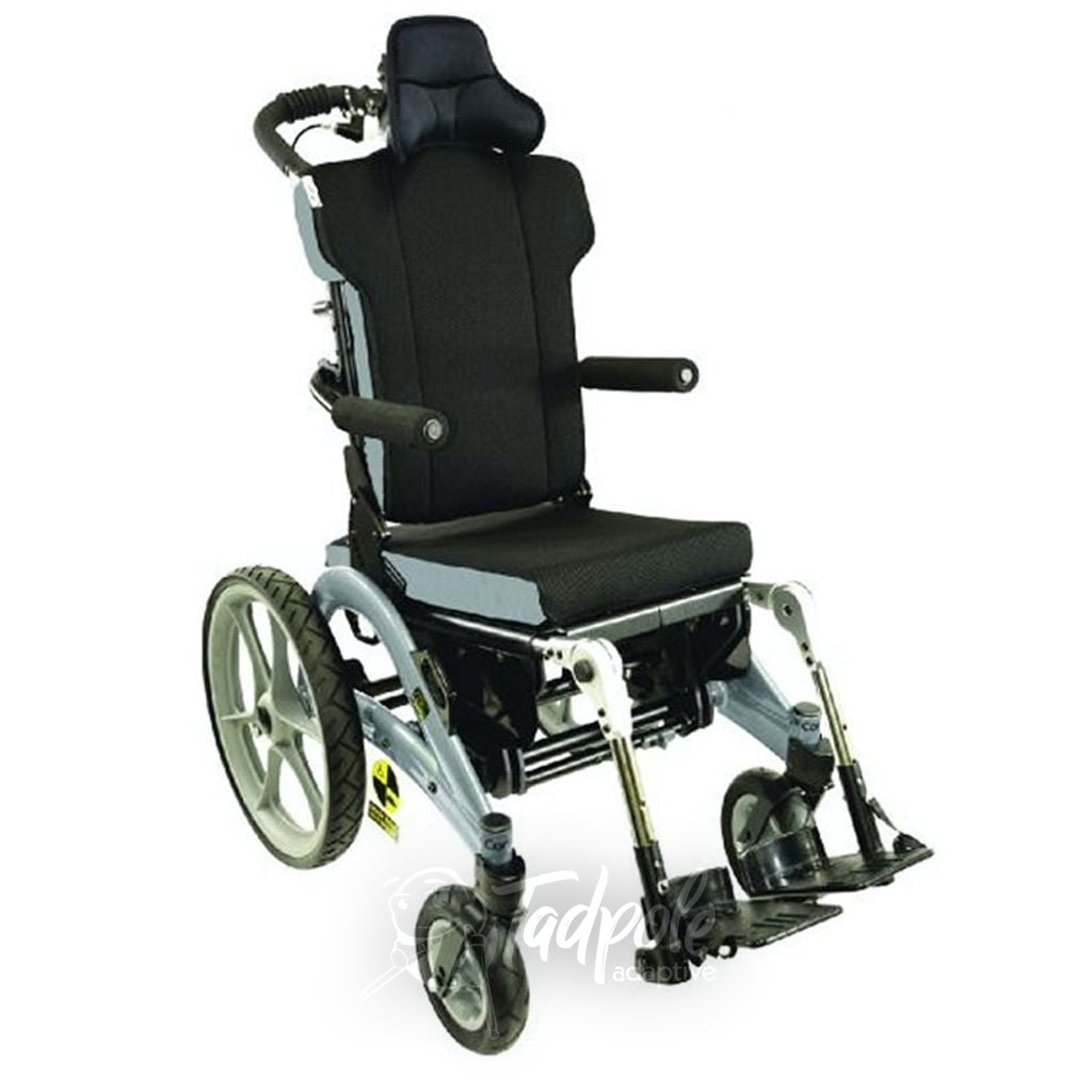 Convaid Flyer Tilt-in-Space Wheelchair in Grey.
