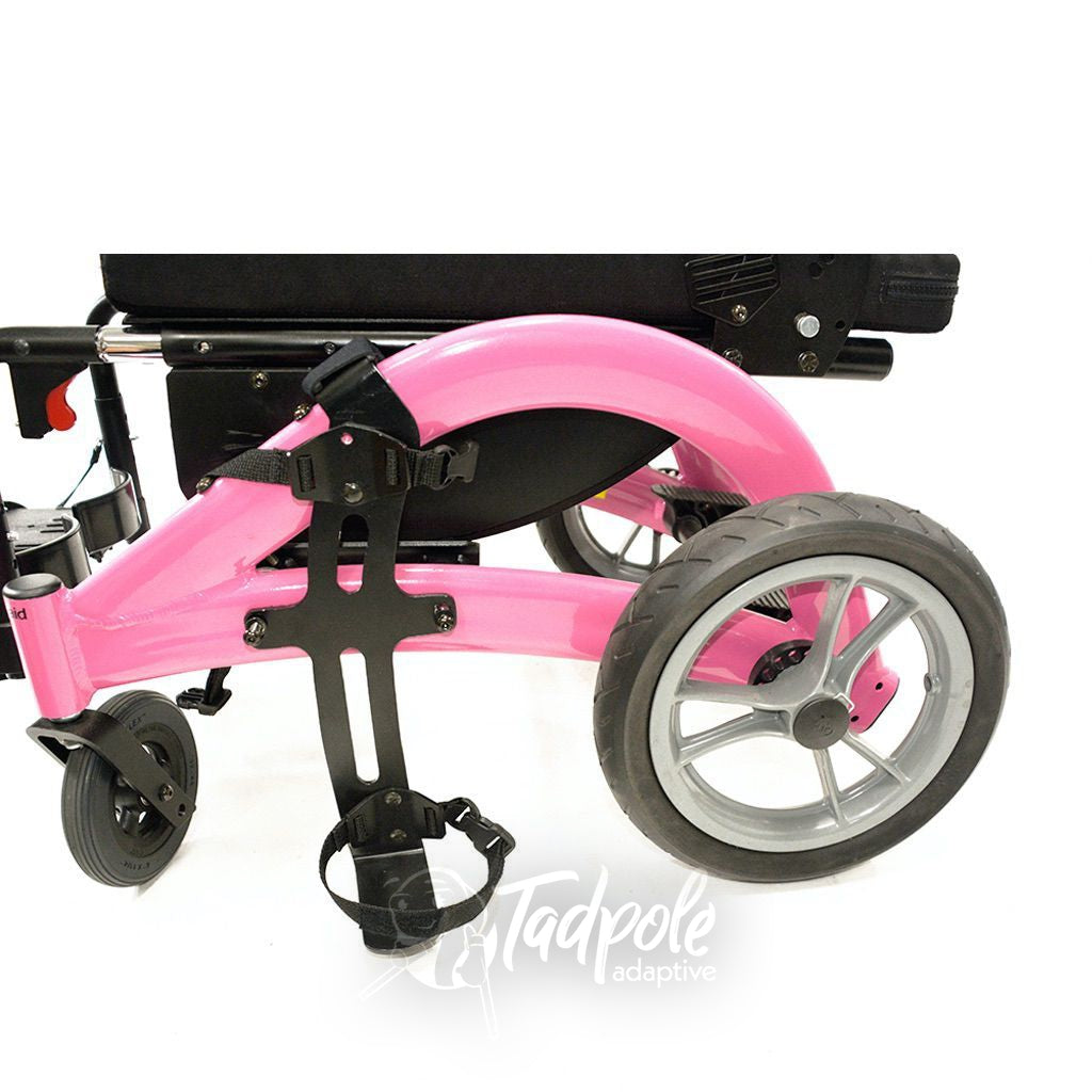 Convaid Flyer Tilt-in-Space Wheelchair shown with oxygen holder.