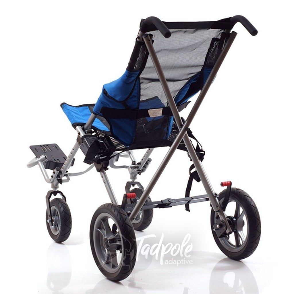 Rear view of the Convaid Metro Stroller.