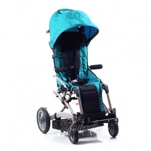 Convaid Rodeo tilt-in-space stroller, main image, shown with canopy.