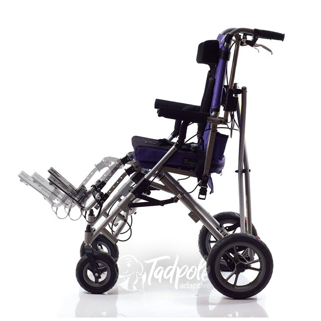 Side view of the Convaid Safari Tilt Stroller.