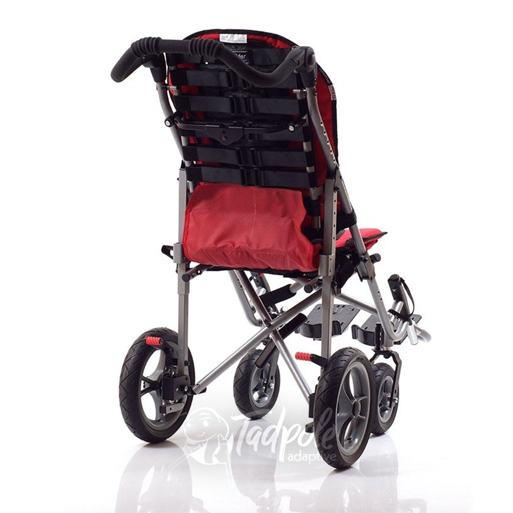Convaid EZ Rider Stroller, in Cherry Red Rear View