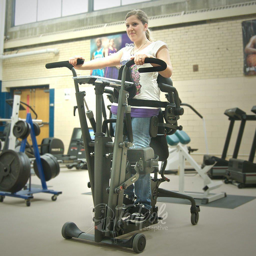 EasyStand Glider, young lady working out in gym.