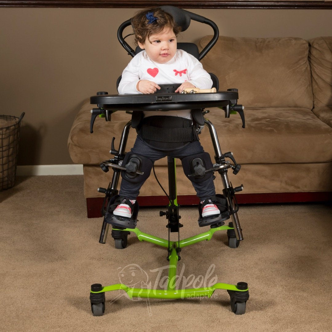 EasyStand Zing MPS Size 1, with child using the independent leg abduction feature.