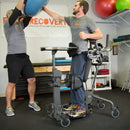 EasyStand Evolv Large. Young man, standing and boxing with trainer