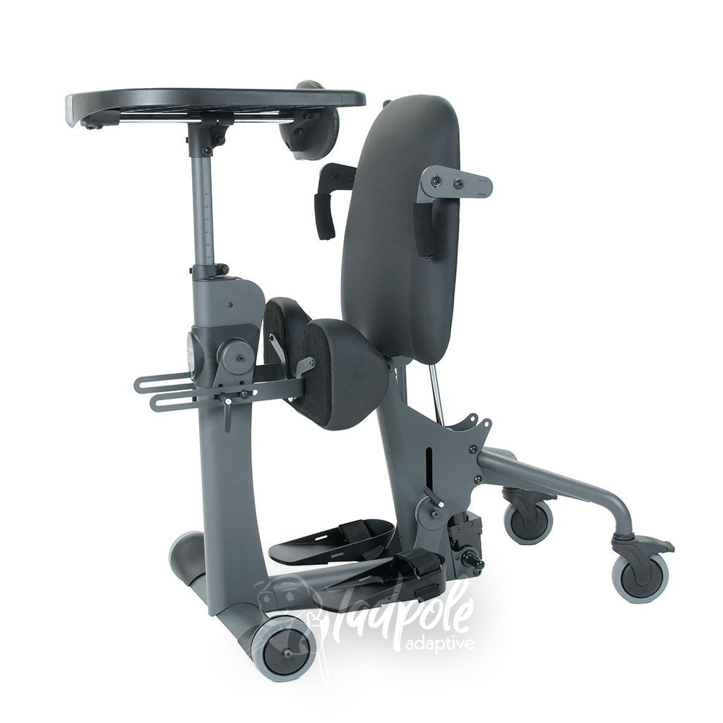 EasyStand Evolv Medium, standing position, with fixed tray.