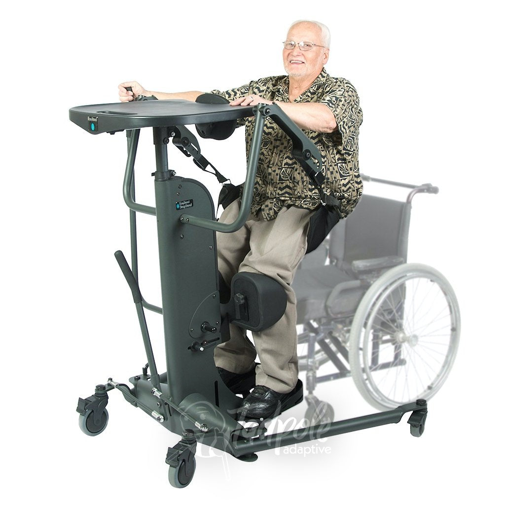 EasyStand StrapStand, Older man in raising himself independently.