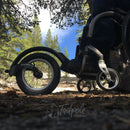 Andy, our founder, on the trails in Tahoe in his FreeWheel Wheelchair Attachment.
