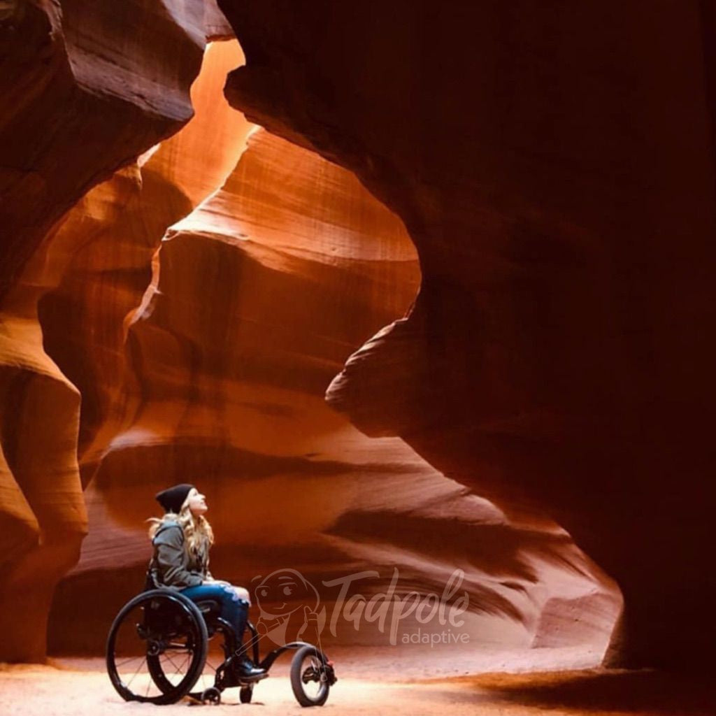 Go places you never thought possible in your FreeWheel Wheelchair Attachment.