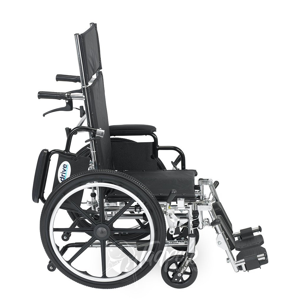 Inspired by Drive Pediatric Viper Plus Reclining Wheelchair Side View
