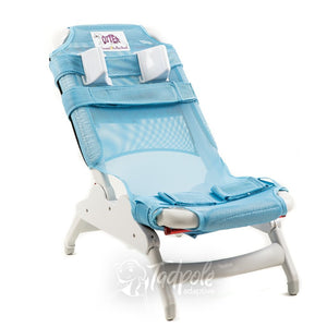 Inspired by Drive Otter Bath Chair in Blue with Head Supports.