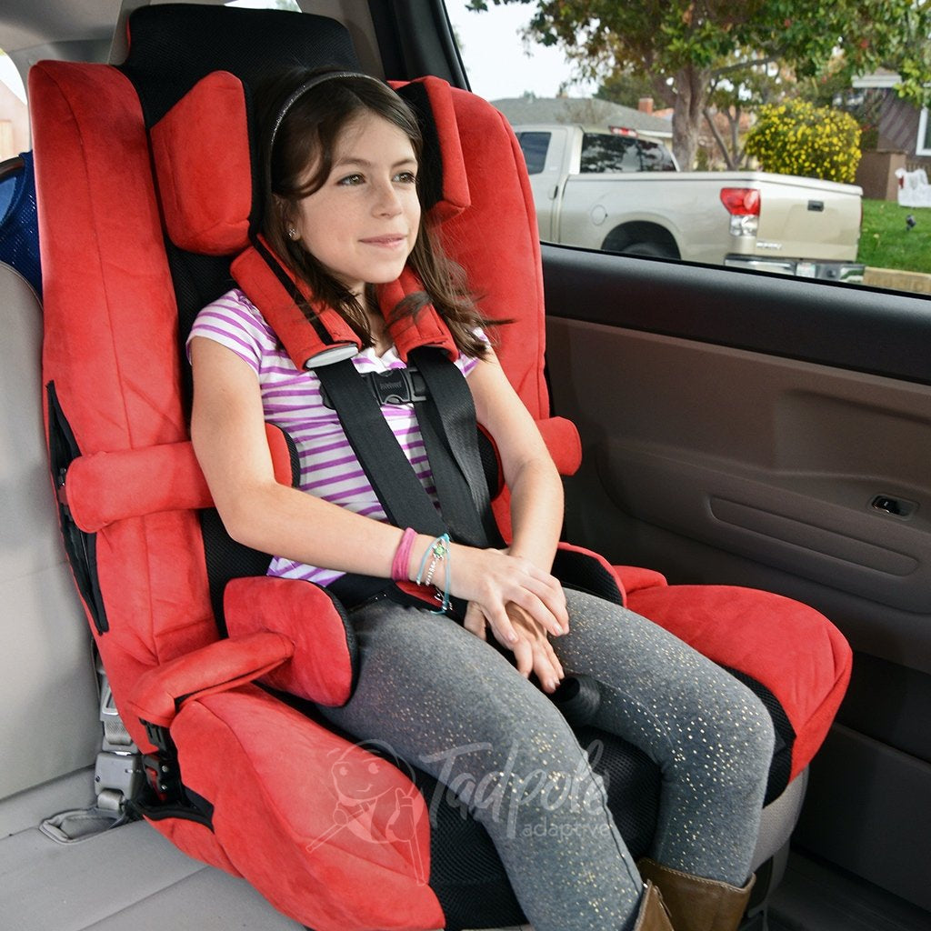 Inspired by Drive Spirit Plus Car Seat Girl with proper positioning in a vehicle.