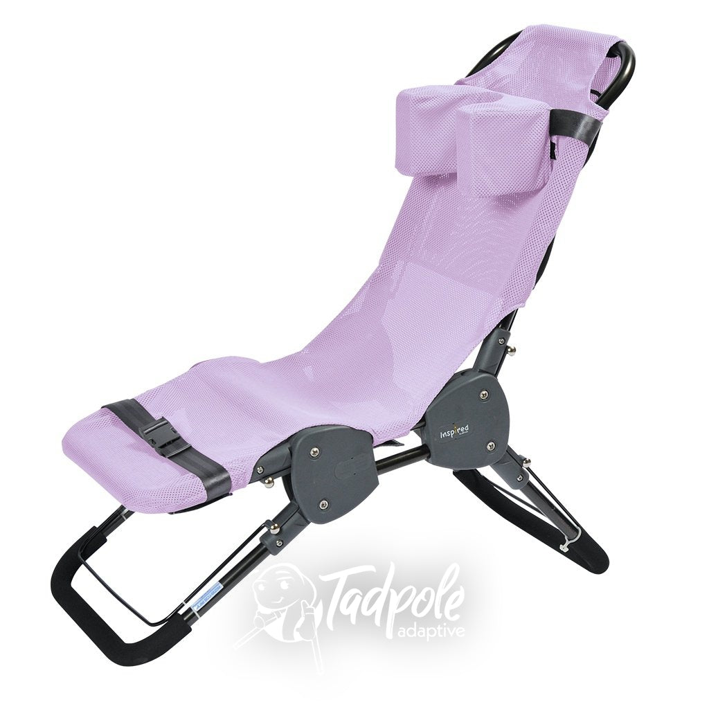 Inspired by Drive Ultima™ Bath Chair in Pink with Head Support.