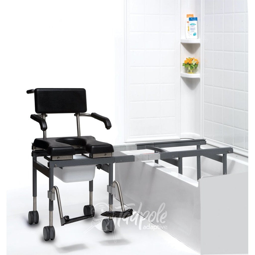 Versa Bath Transfer and Commode, outside bathtub.