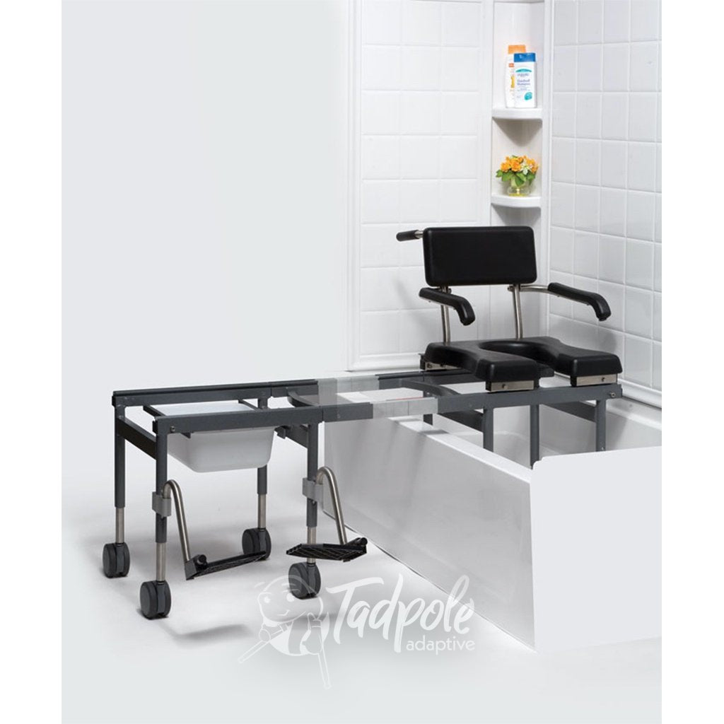 Versa Bath Transfer and Commode inside bathtub.