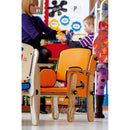 Leckey PAL Classroom Seat in School Room in Orange.