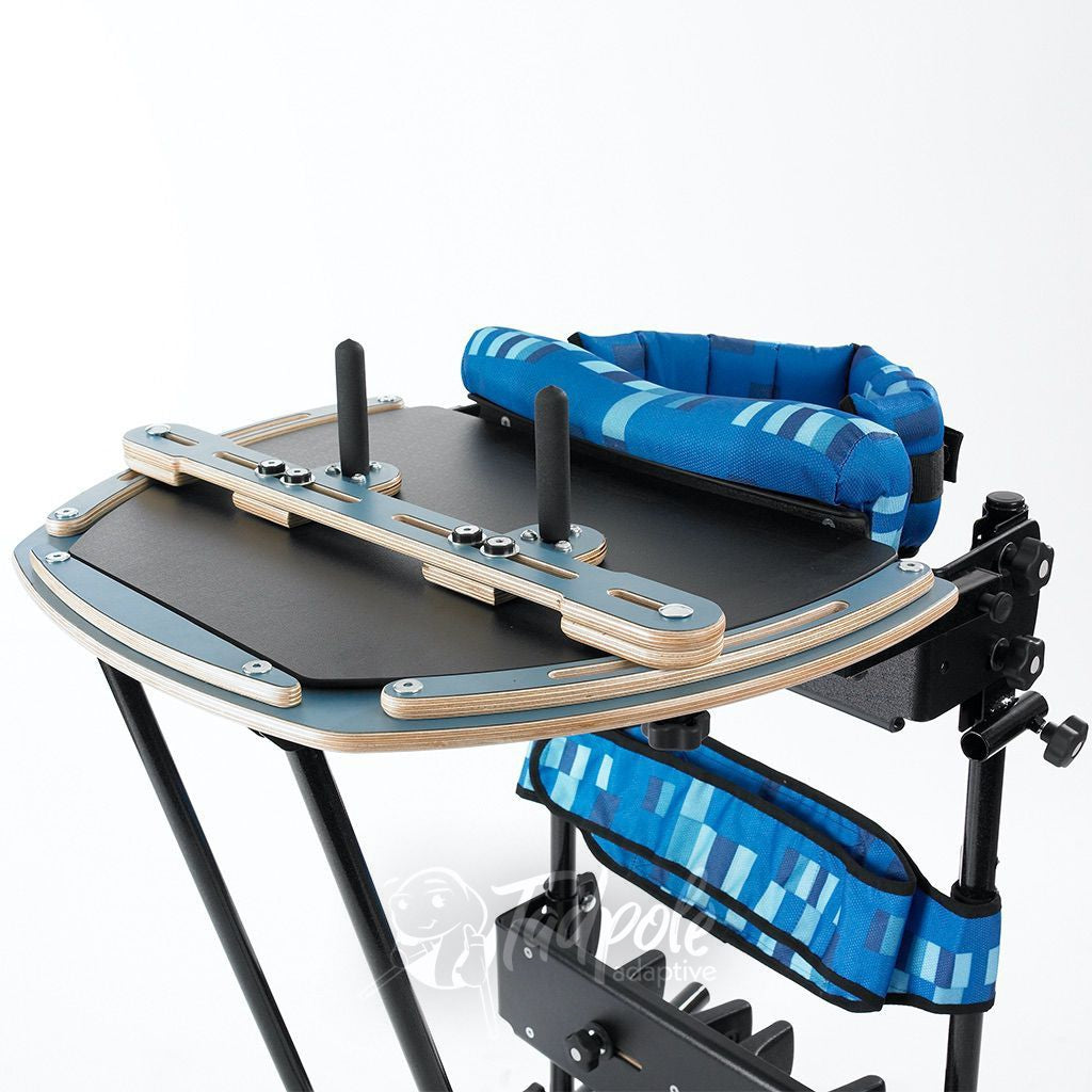 Support tray for upper extremity support on the Leckey Freestander.