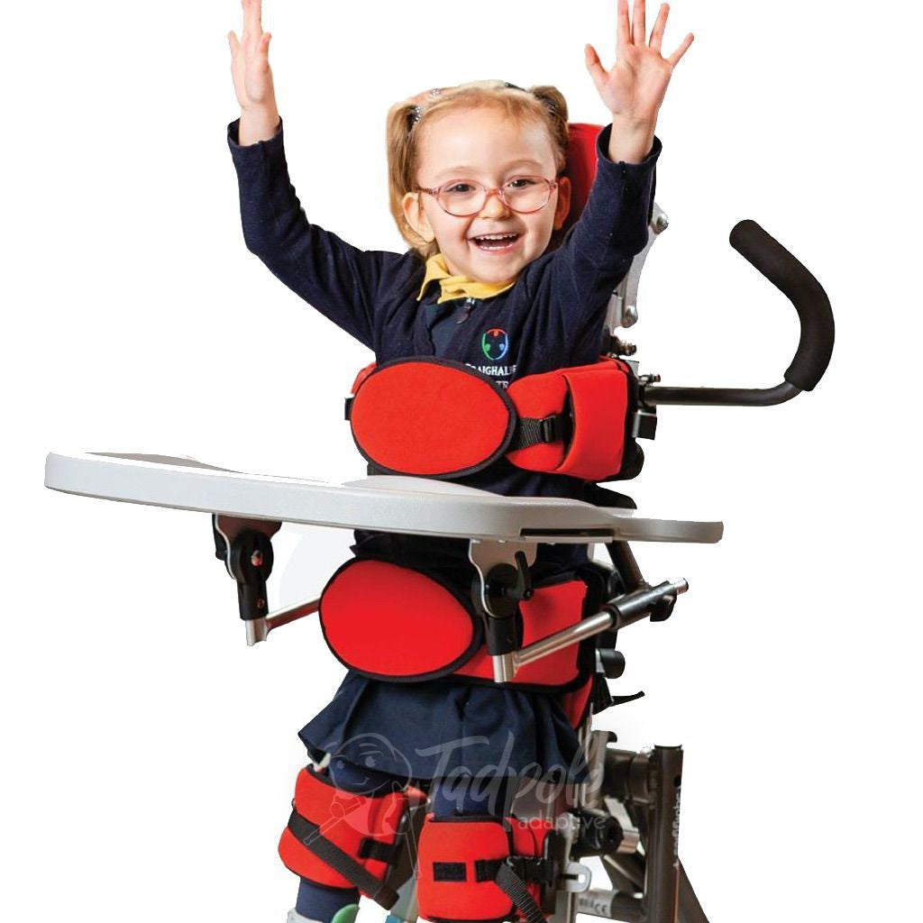 Leckey Squiggles+(plus) Stander Little girl standing, fully supported