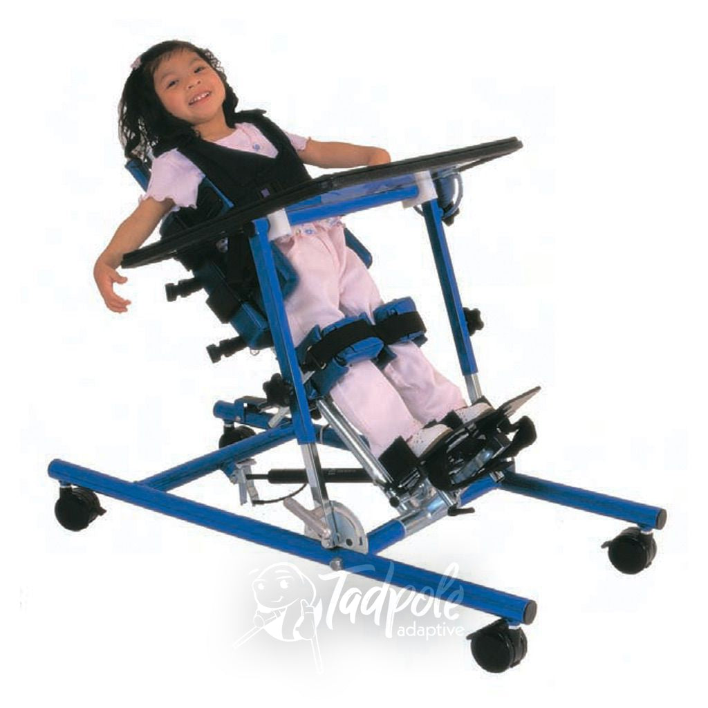 Young girl in Prime Engineering Superstand Youth in the supine position tilted backwards.