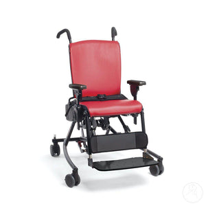 Large Rifton Activity Chair in red, main picture.